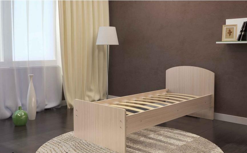 Кровать Весна 800мм белёный дуб