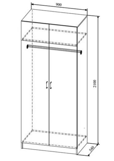 Шкаф 2-х створчатый ШДИ 900.1