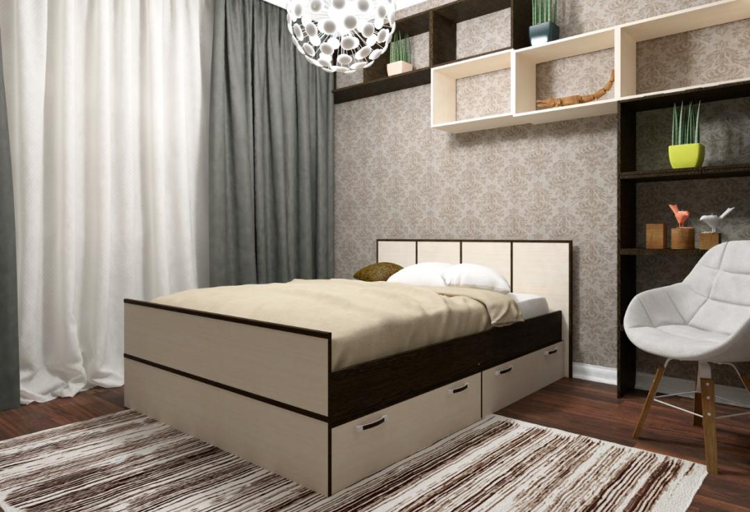 Кровать с ящиками - 1.4