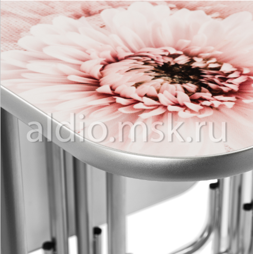 Стол тумба Хризантемы 120х68 см.