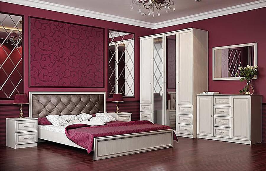 Спальный гаринтур Габриэлла Вудлайн кремовый