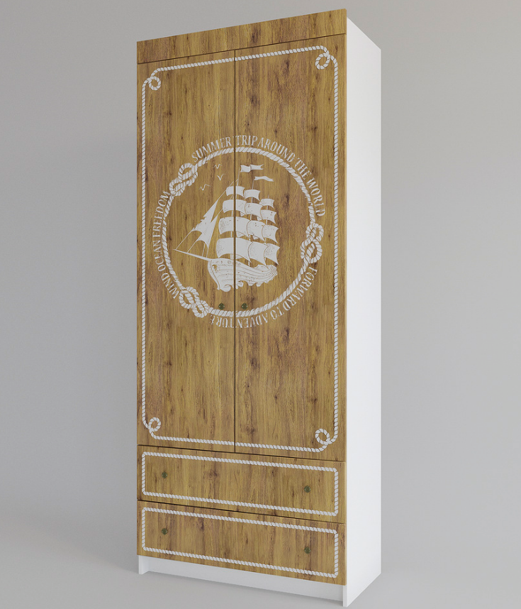 Шкаф с ящиками - Юнга 90 см