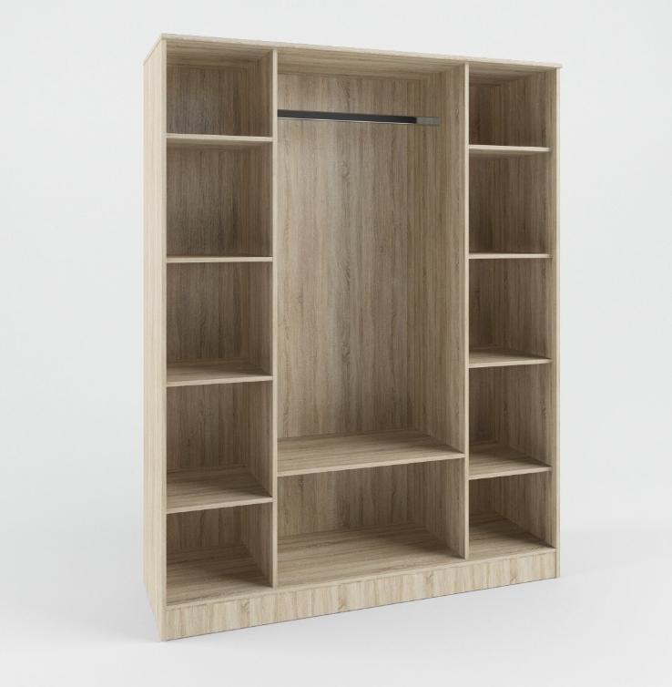 Шкаф 4х створчатый с ящиками СШК 1600.1