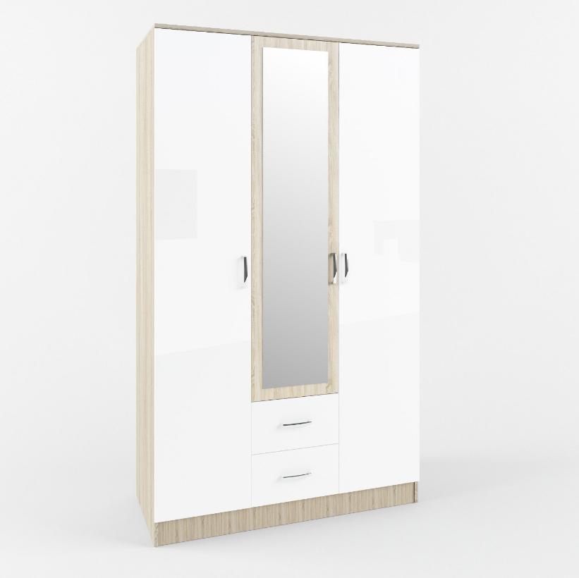 Шкаф 3х створчатый с ящиками СШК 1200.1