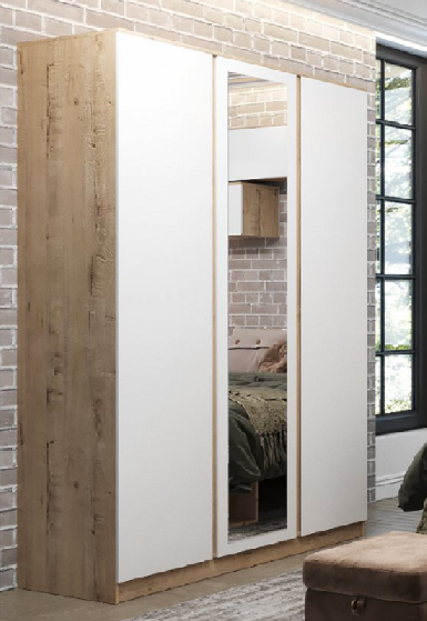 Шкаф трехстворчатый с зеркалом МШК 1400.1