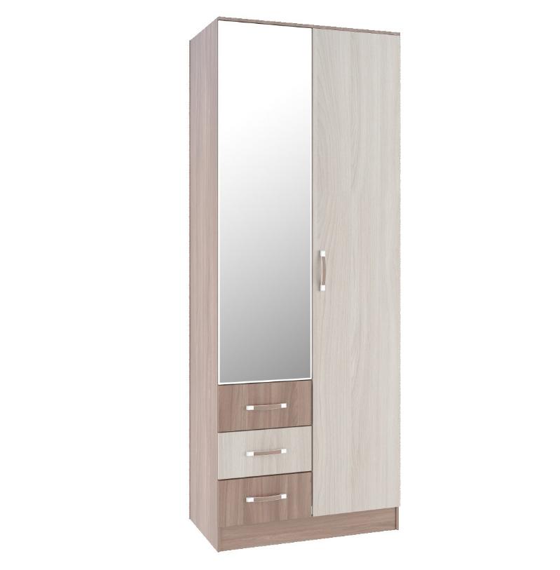 Шкаф 2х створчатый с зеркалом ШКР 800.3