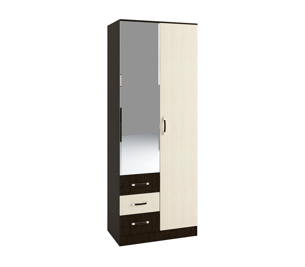 Шкаф 2х створчатый с зеркалом ШКР 800.3 белфорд