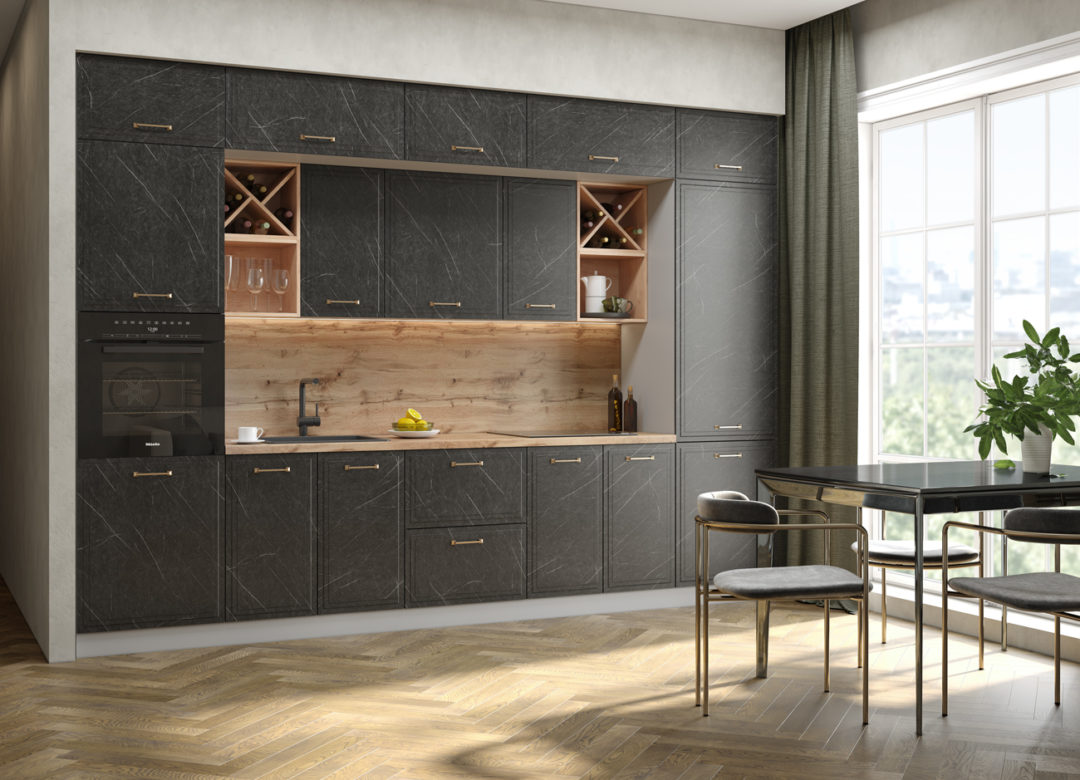 Кухня -Риволи 3.4м гранит оникс