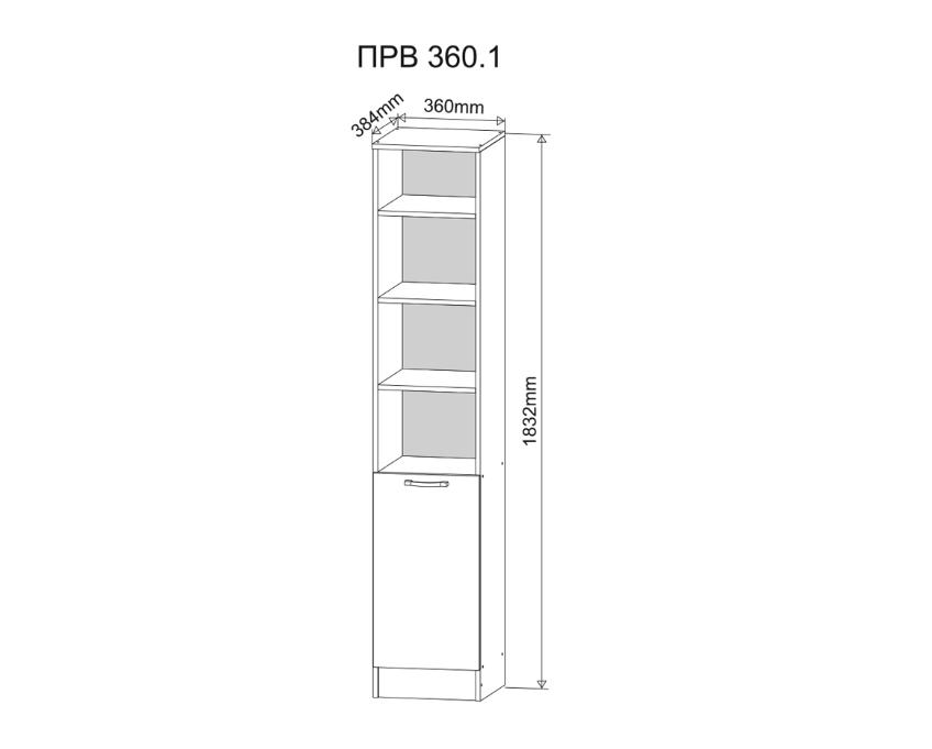 Пенал ПР-360.1 венге